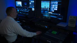 Mashpee TV studio control room